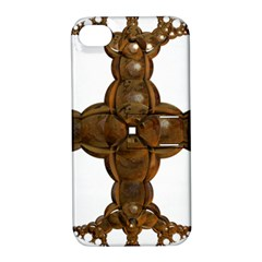 Cross Golden Cross Design 3d Apple Iphone 4/4s Hardshell Case With Stand by Nexatart