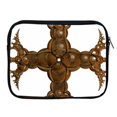 Cross Golden Cross Design 3d Apple Ipad 2/3/4 Zipper Cases by Nexatart