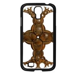 Cross Golden Cross Design 3d Samsung Galaxy S4 I9500/ I9505 Case (black) by Nexatart