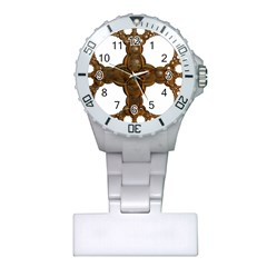 Cross Golden Cross Design 3d Plastic Nurses Watch