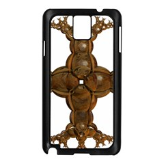 Cross Golden Cross Design 3d Samsung Galaxy Note 3 N9005 Case (black)