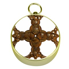 Cross Golden Cross Design 3d Gold Compasses