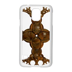 Cross Golden Cross Design 3d Samsung Galaxy S5 Case (white) by Nexatart
