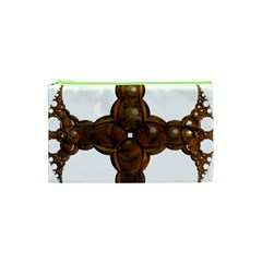 Cross Golden Cross Design 3d Cosmetic Bag (xs)