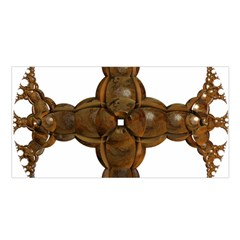 Cross Golden Cross Design 3d Satin Shawl by Nexatart