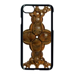 Cross Golden Cross Design 3d Apple iPhone 7 Seamless Case (Black)