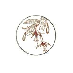 Floral Spray Gold And Red Pretty Hat Clip Ball Marker (4 Pack) by Nexatart