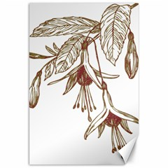 Floral Spray Gold And Red Pretty Canvas 20  X 30   by Nexatart