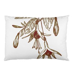 Floral Spray Gold And Red Pretty Pillow Case