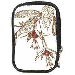 Floral Spray Gold And Red Pretty Compact Camera Cases by Nexatart
