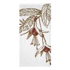 Floral Spray Gold And Red Pretty Shower Curtain 36  X 72  (stall)