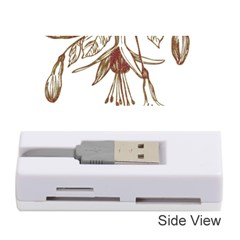 Floral Spray Gold And Red Pretty Memory Card Reader (stick)