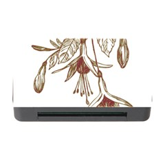 Floral Spray Gold And Red Pretty Memory Card Reader With Cf by Nexatart