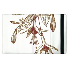 Floral Spray Gold And Red Pretty Apple Ipad 2 Flip Case by Nexatart