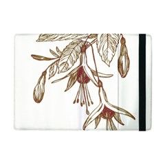 Floral Spray Gold And Red Pretty Apple Ipad Mini Flip Case