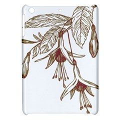 Floral Spray Gold And Red Pretty Apple Ipad Mini Hardshell Case by Nexatart