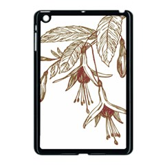 Floral Spray Gold And Red Pretty Apple Ipad Mini Case (black) by Nexatart