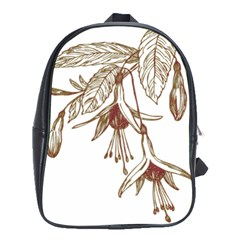 Floral Spray Gold And Red Pretty School Bags (xl)  by Nexatart