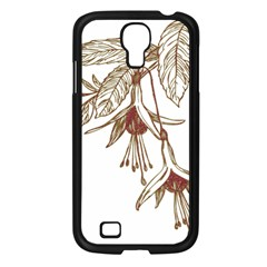 Floral Spray Gold And Red Pretty Samsung Galaxy S4 I9500/ I9505 Case (black)