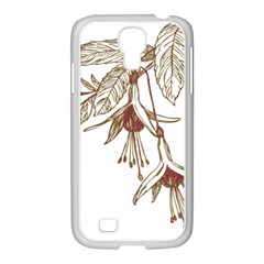 Floral Spray Gold And Red Pretty Samsung Galaxy S4 I9500/ I9505 Case (white)