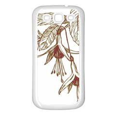 Floral Spray Gold And Red Pretty Samsung Galaxy S3 Back Case (white)