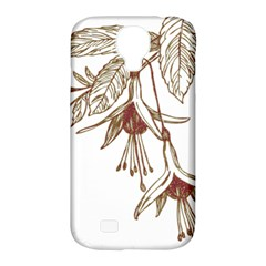 Floral Spray Gold And Red Pretty Samsung Galaxy S4 Classic Hardshell Case (pc+silicone) by Nexatart