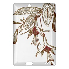 Floral Spray Gold And Red Pretty Amazon Kindle Fire Hd (2013) Hardshell Case by Nexatart