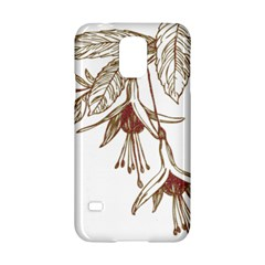 Floral Spray Gold And Red Pretty Samsung Galaxy S5 Hardshell Case