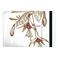 Floral Spray Gold And Red Pretty Samsung Galaxy Tab Pro 10 1  Flip Case by Nexatart
