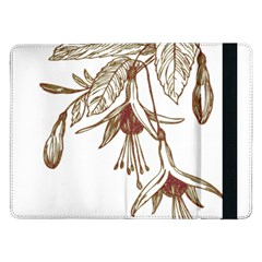Floral Spray Gold And Red Pretty Samsung Galaxy Tab Pro 12 2  Flip Case