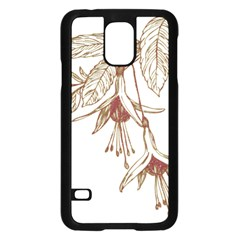 Floral Spray Gold And Red Pretty Samsung Galaxy S5 Case (black) by Nexatart