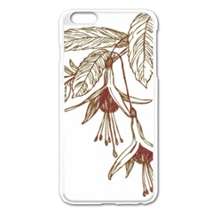 Floral Spray Gold And Red Pretty Apple Iphone 6 Plus/6s Plus Enamel White Case by Nexatart
