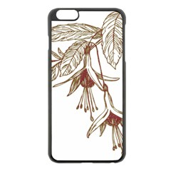 Floral Spray Gold And Red Pretty Apple Iphone 6 Plus/6s Plus Black Enamel Case by Nexatart