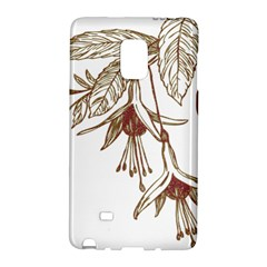 Floral Spray Gold And Red Pretty Galaxy Note Edge by Nexatart