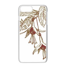 Floral Spray Gold And Red Pretty Apple Iphone 7 Plus White Seamless Case by Nexatart