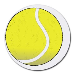 Tennis Ball Ball Sport Fitness Round Mousepads by Nexatart