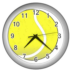 Tennis Ball Ball Sport Fitness Wall Clocks (silver)  by Nexatart