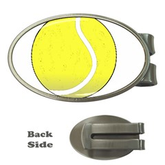 Tennis Ball Ball Sport Fitness Money Clips (oval)  by Nexatart