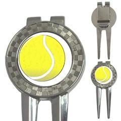 Tennis Ball Ball Sport Fitness 3 In 1 Golf Divots by Nexatart
