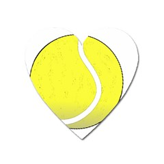 Tennis Ball Ball Sport Fitness Heart Magnet by Nexatart
