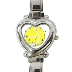 Tennis Ball Ball Sport Fitness Heart Italian Charm Watch by Nexatart