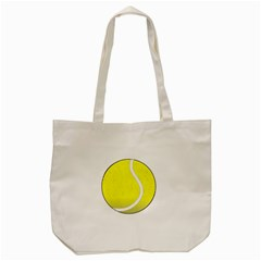 Tennis Ball Ball Sport Fitness Tote Bag (cream) by Nexatart