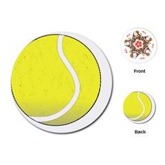 Tennis Ball Ball Sport Fitness Playing Cards (round)  by Nexatart