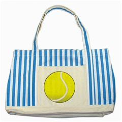 Tennis Ball Ball Sport Fitness Striped Blue Tote Bag by Nexatart