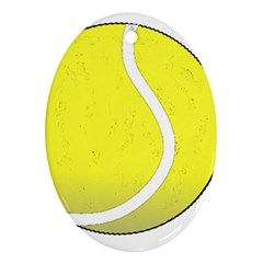 Tennis Ball Ball Sport Fitness Oval Ornament (two Sides) by Nexatart