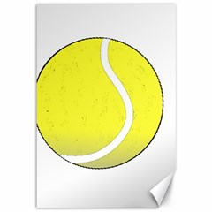 Tennis Ball Ball Sport Fitness Canvas 12  X 18   by Nexatart