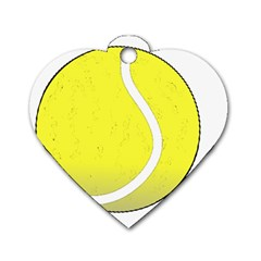 Tennis Ball Ball Sport Fitness Dog Tag Heart (two Sides) by Nexatart