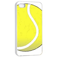 Tennis Ball Ball Sport Fitness Apple Iphone 4/4s Seamless Case (white) by Nexatart