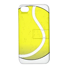 Tennis Ball Ball Sport Fitness Apple Iphone 4/4s Hardshell Case With Stand by Nexatart
