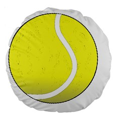 Tennis Ball Ball Sport Fitness Large 18  Premium Flano Round Cushions by Nexatart